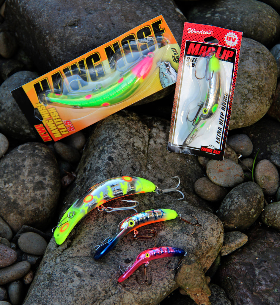 Hawg Nose Flatfish and Mag Lip are making a big impression impact in the salmon world. Plug fishermen know the value of sporadic movement, and these plugs have it.