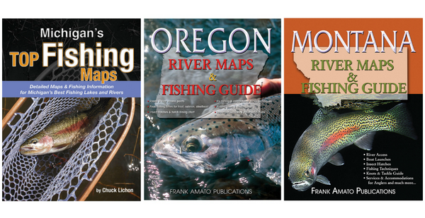 oregon montana and michigan fishing maps