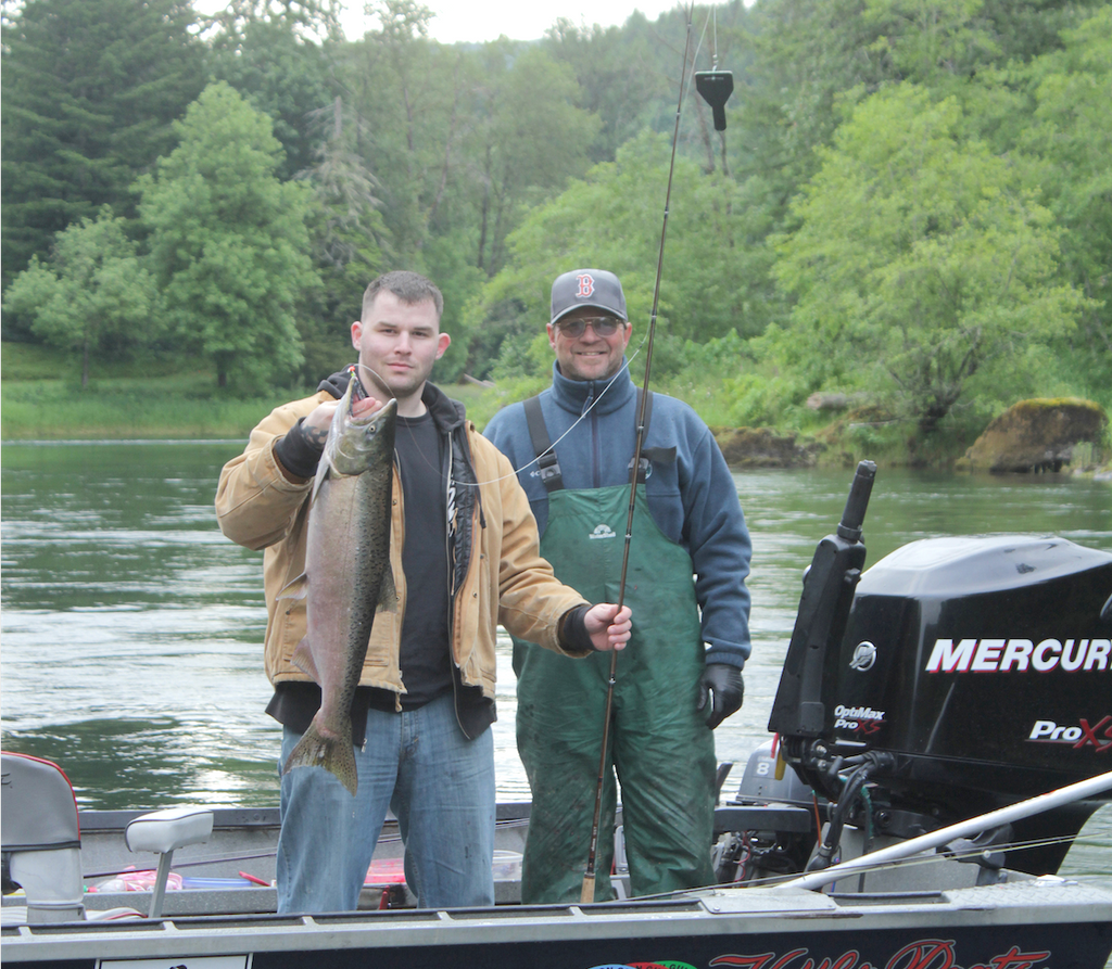Todd Linklater (right) is one of Oregon's top salmon and steelhead guides.