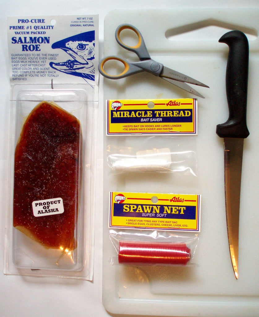 pro cure salmon roe fishing miracle thread knife scissors