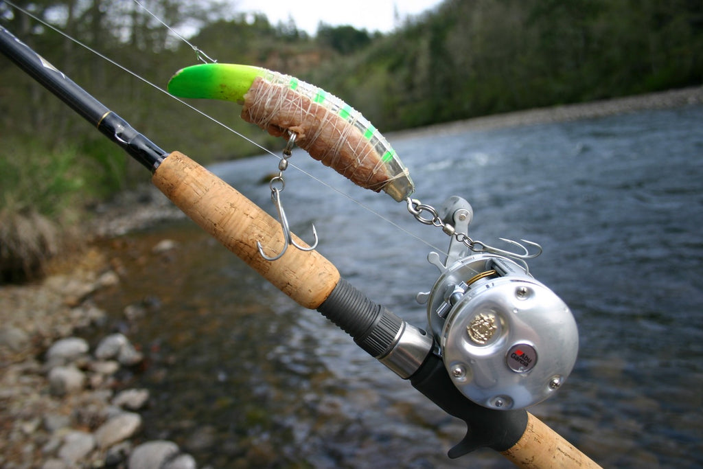 salmon fishing plugs kwikfish rod chinook coho kings