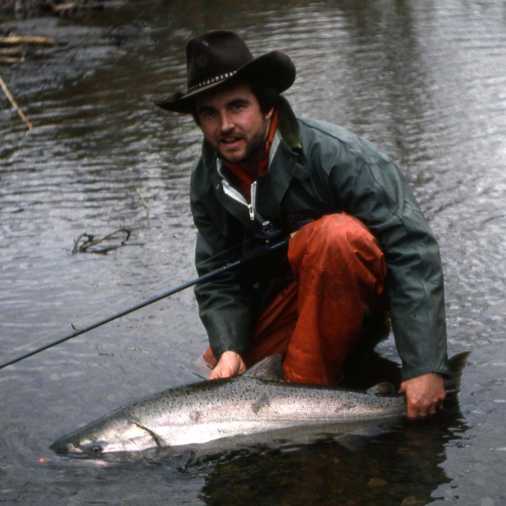 Caught and released this fall Chinook from Oregon's Wilson River in 1987. Pretty late for a fall Chinook, sometimes referred to as winter Chinook, but I hear anglers have caught them even later