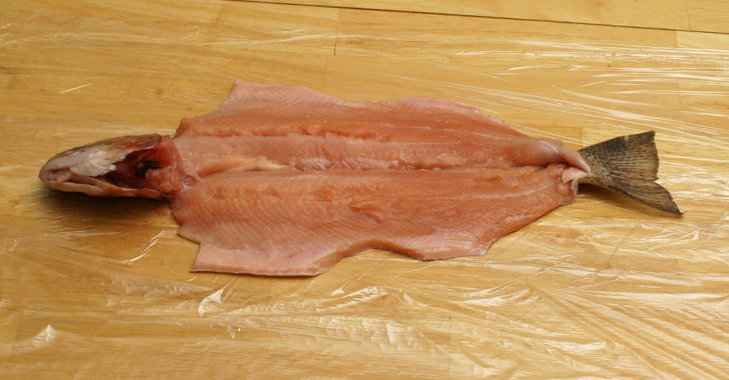 deboning salmon trout fish steelhead