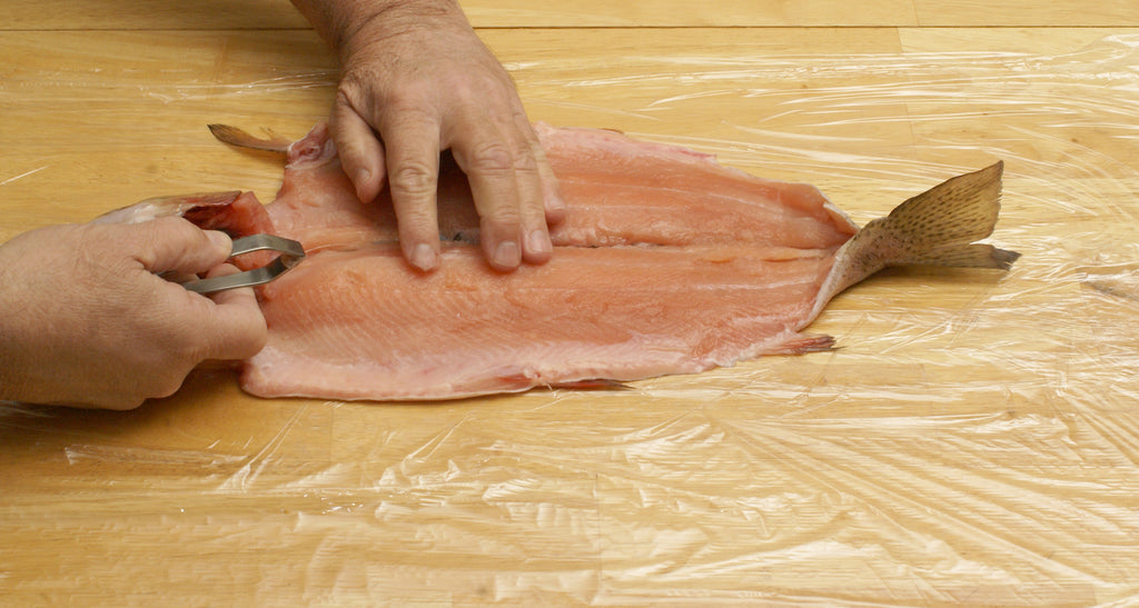 deboning salmon trout steelhead fish