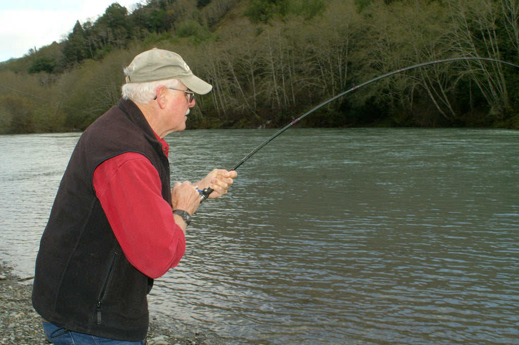 Make sure to keep your rod tip up when you're fighting a steelhead while plunking a heavy Spin-N-Glo rig