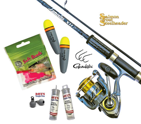 steelhead pack fishing rod reel