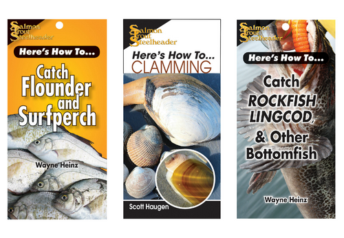 Pacific Coast Saltwater 3-Pack Readers | How to: Clamming + Catch Flounder & Surf Perch + How to Catch Rockfish, Lingcod