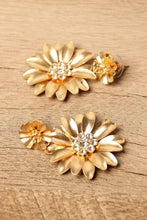 Flower Rhinestone Drop Earrings