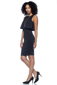 Women's Knee Length Layered Cocktail Dress