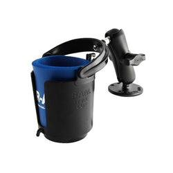 "RAM 1"" Ball Mount w/ Round Base, Level Cup™ Drink Holder & Koozie (RAM-B-132U) - Image1"