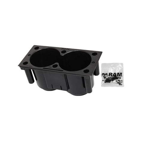 RAM-FP-CUP1F Tough-Box Console Dual Drink Cup | Mounts Bangladesh | RAM Mounts Bangladesh