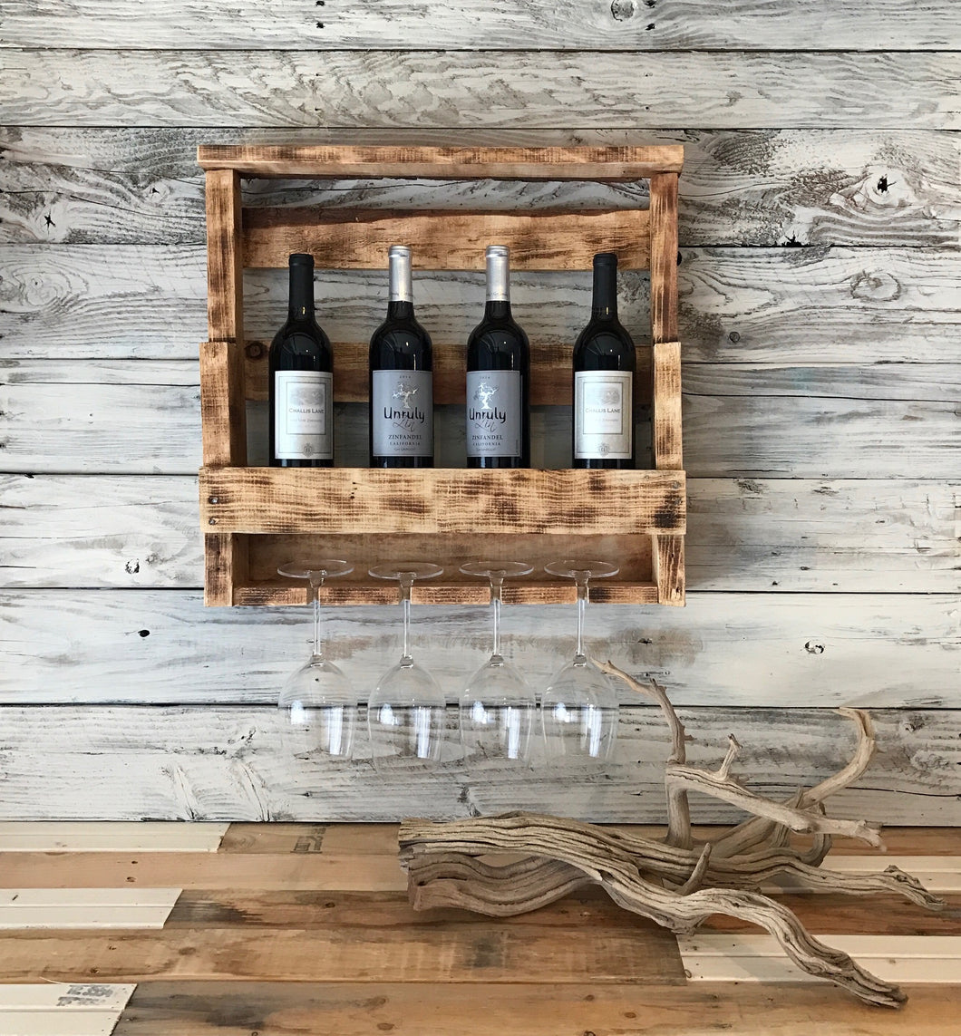 Reclaimed Wood Wine Rack