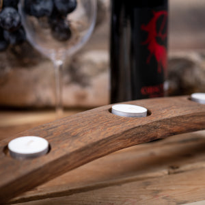 Dark Brown Wine Barrel Candle Holder