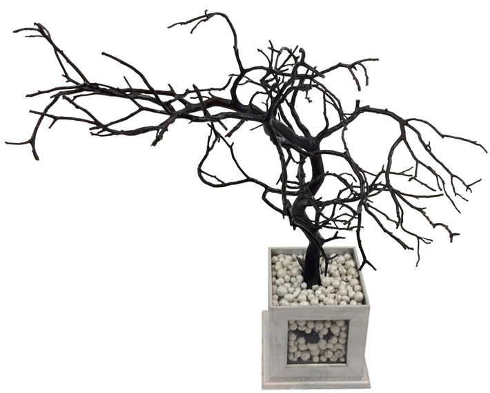 Silver and Black Rotating Jewelry Tree