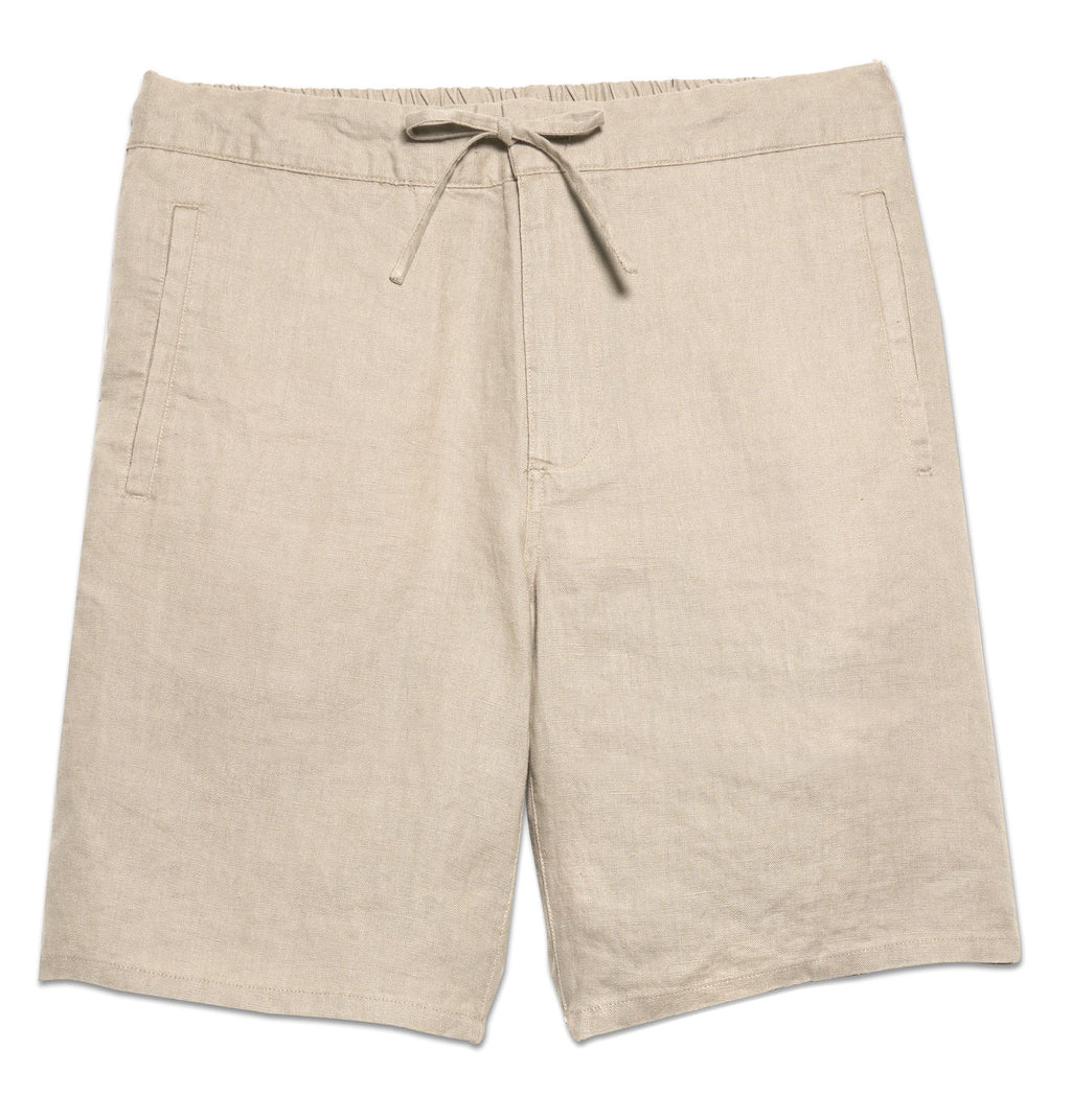Max Draw String Linen Shorts, Dune