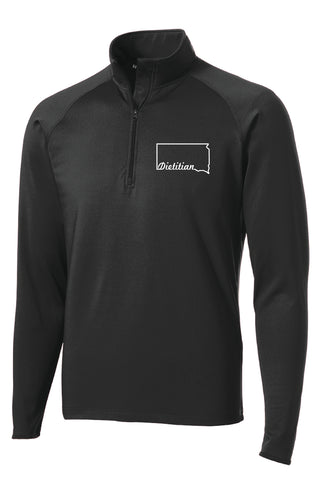 SDAND Dietitians Men's Embroidered 1/2 Zip Pull Over