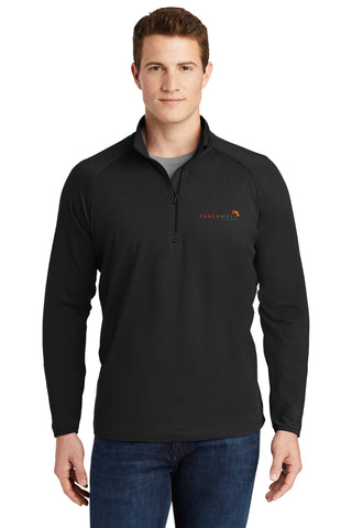 Teachwell Solutions - Sport-Tek® Mens Sport-Wick® Stretch 1/2-Zip Pullover