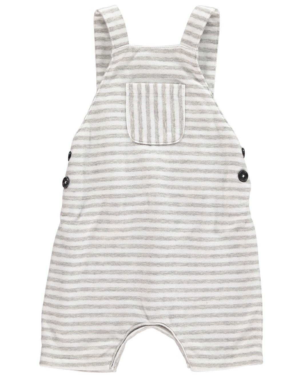 Grey/white jersey shortie dungarees
