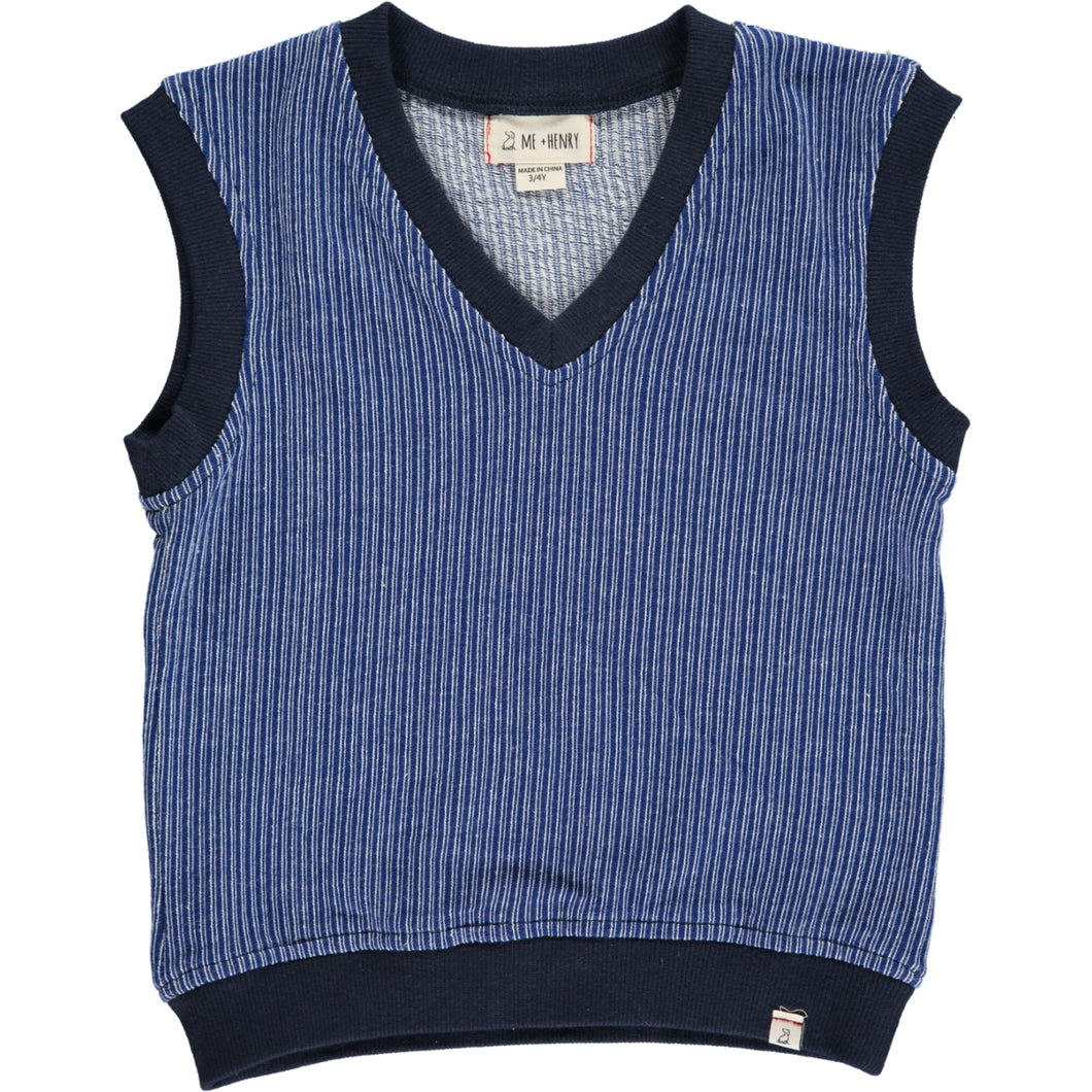 Navy knitted tanktop