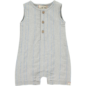 Grey/blue playsuit