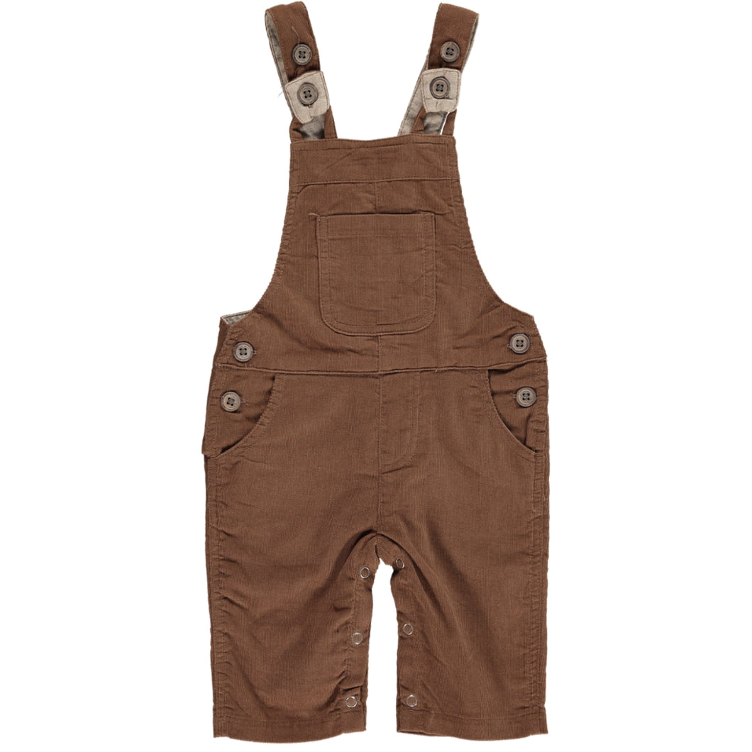 Brown cord dungarees