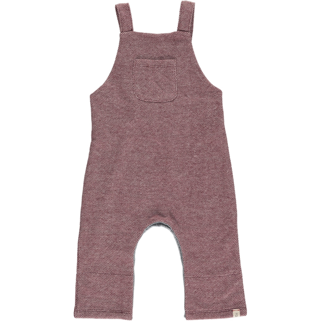 Wine sweat dungarees