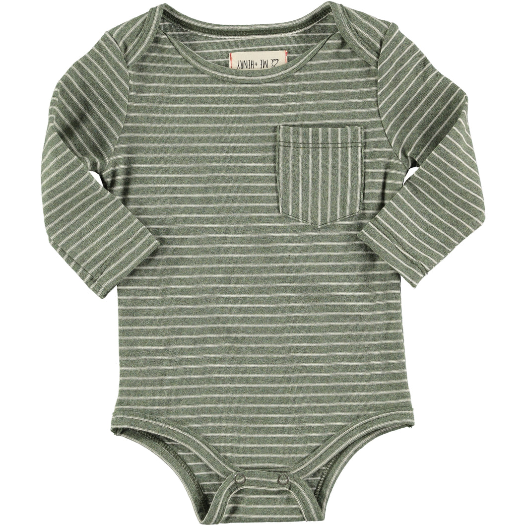 Green stripe bodysuit