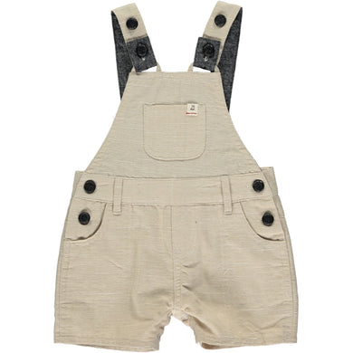 Stone woven shortie dungarees