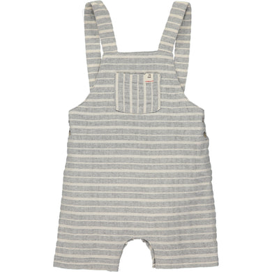 Grey/white woven shortie dungarees