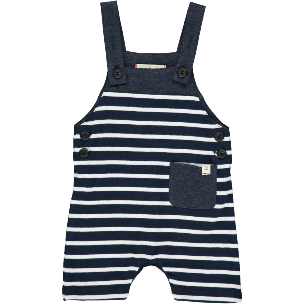 Navy/white sleeveless romper