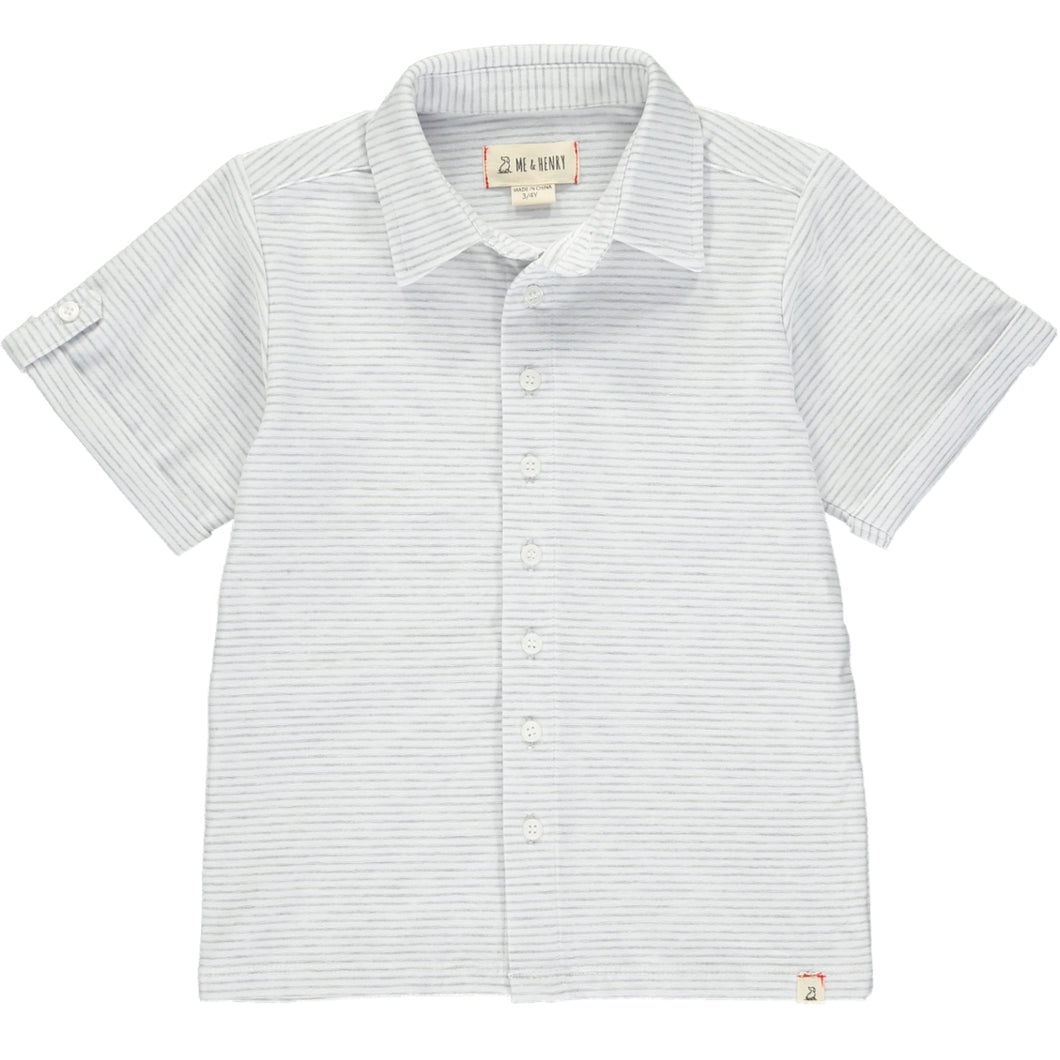 Grey/white stripe jersey shirt