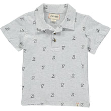Grey Henry dog print polo