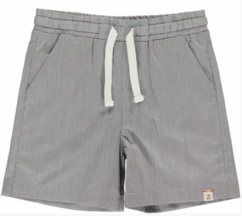 Grey micro stripe swim shorts