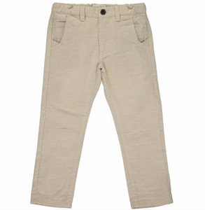 Stone soft brushed cotton trousers