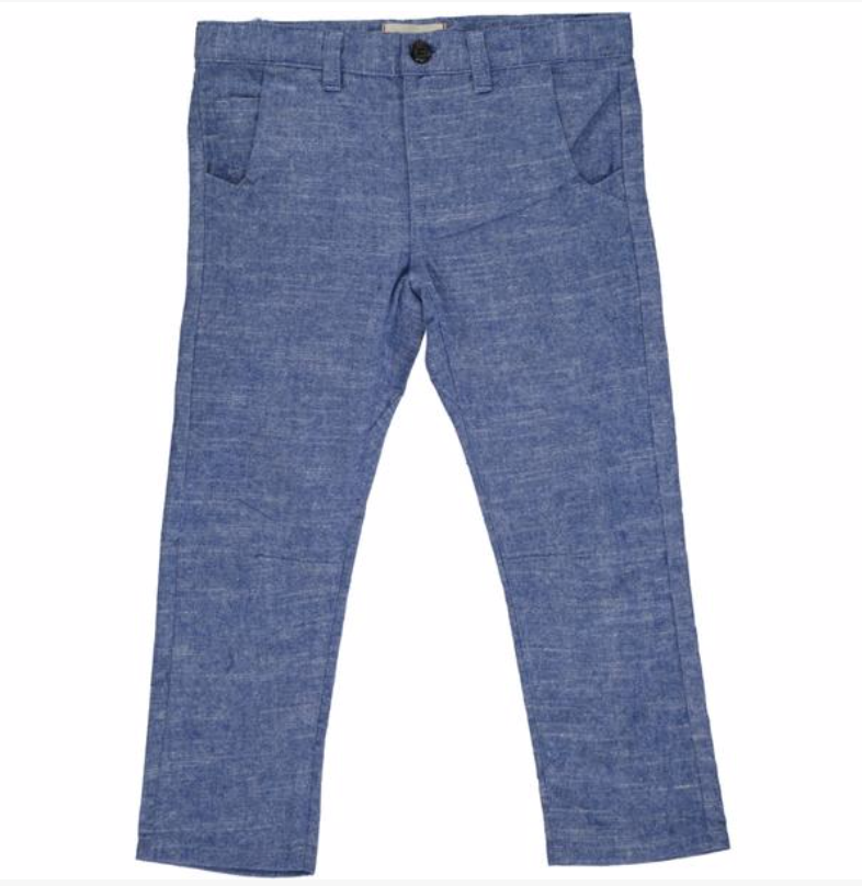Blue soft brushed cotton trousers