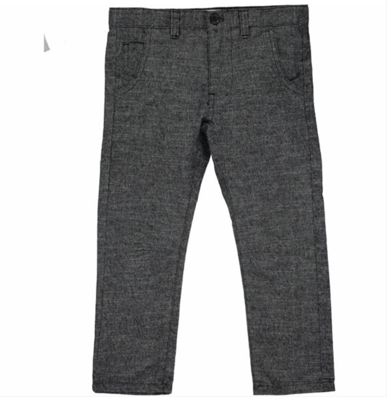 Black soft brushed cotton trousers