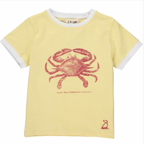 Yellow crab tee