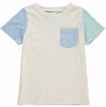 Stone colour block tee