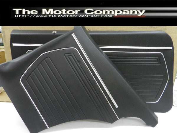 1969 Chevy Camaro Coupe Front and Rear Assembled Door Panel Set