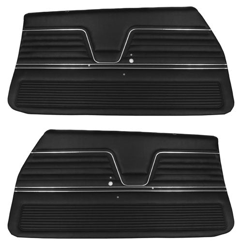 1969 Chevy El Camino Front Interior Door Panels Black