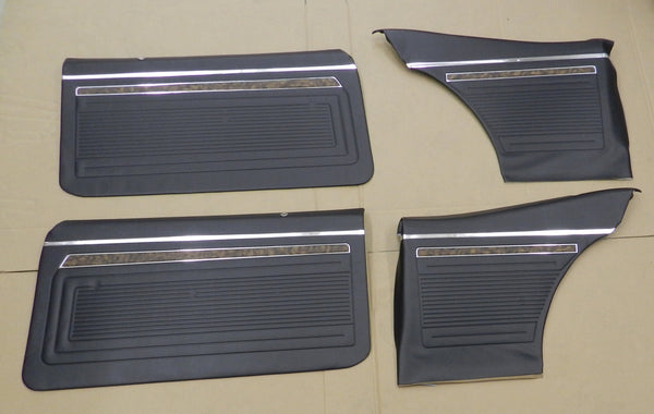 1970 Chevy Nova SS 396 Interior Front & Rear Door Panel Set In Black