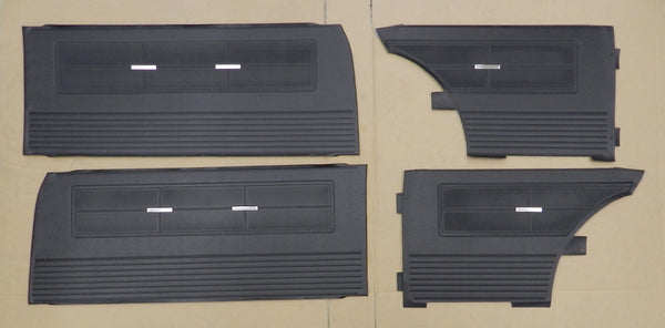 1962 1963 Chevy II Nova SS Interior Front & Rear Door Panel Set PUI Black IN STK