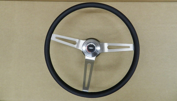 Comfort Grip Steering Wheel Kit Black Cushion 3-spoke Camaro Chevelle Nova El Camino