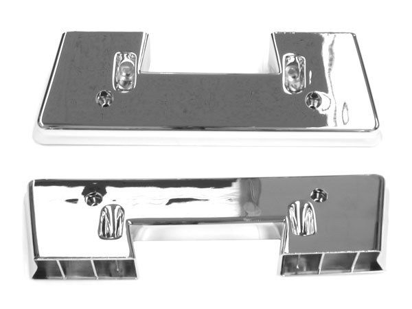 1964-1967 Chevy Front Arm Rest Bases Chrome