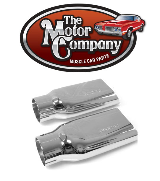 1969 1970 1971 1972 Chevelle / El Camino / Monte Carlo SS 2 1/2 Inch Chrome Exhaust Tips With GM Numbers