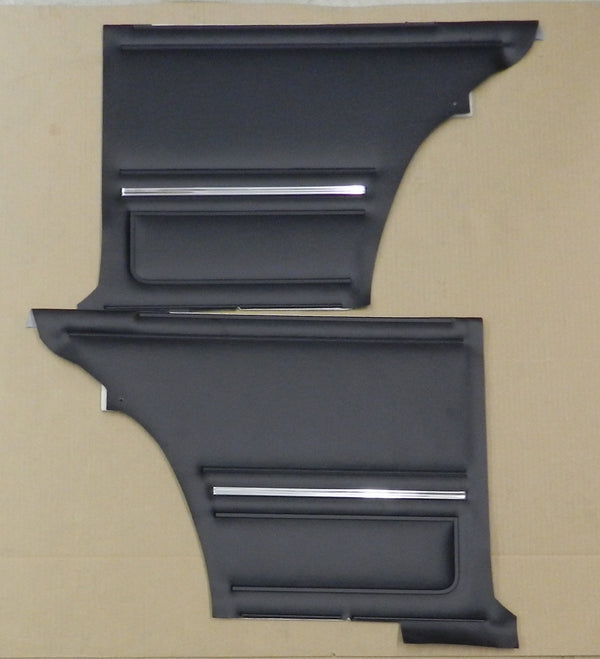 1967 Camaro Standard Rear Assembled Door Panels PUI Black PD200C (IN STK)