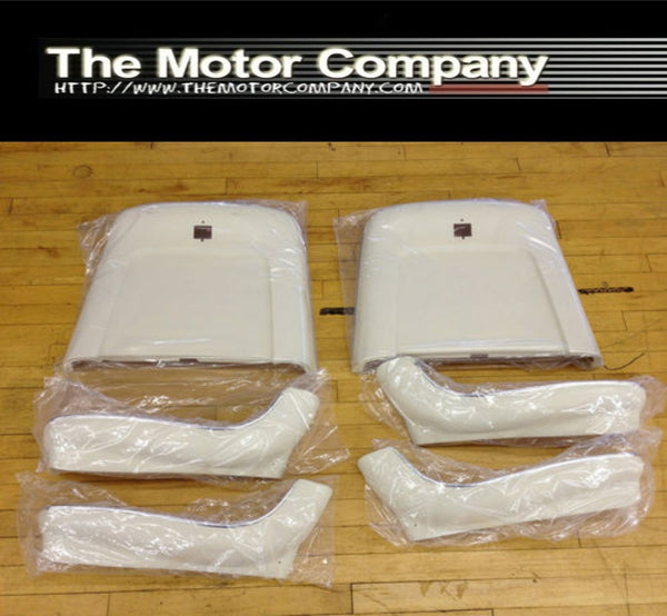 1969-1972 Seat Backs 6 Piece for Strato Buckets White