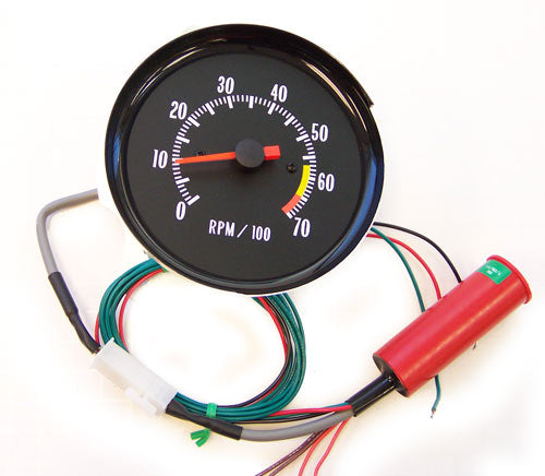 1970 Monte Carlo In Dash Tachometer GREEN ( For SS Dash )