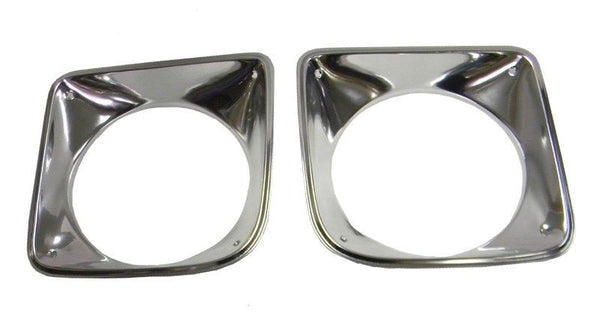 1969-1972 Chevy Truck Head Light Bezel Set Of 2