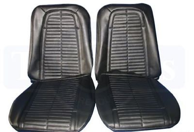 1967 1968 Pontiac Firebird PUI Front Bucket Seat Covers Black 67ES10U ( IN STK )